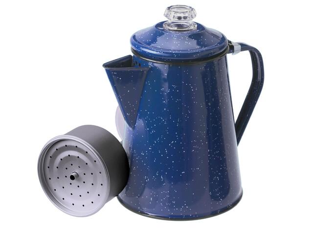 Cafetière GSI 8 tasses en émail bleu